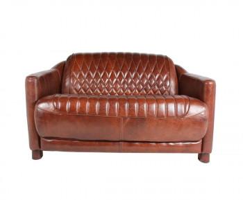 Canapé «Le PRESTIGIEUX» en cuir vieilli