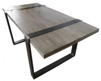 Table à manger 180 vintage industrielle metal & bois