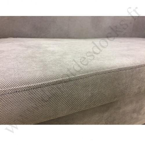 Banquette club JULIO en tissu microfibre gris