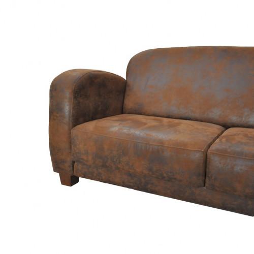canap club jazz 3 places imitation cuir vieilli le. Black Bedroom Furniture Sets. Home Design Ideas
