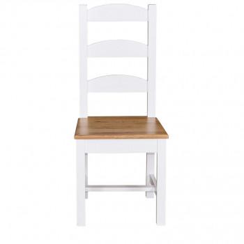 Chaise à entretoise dossier droit 3 barrettes