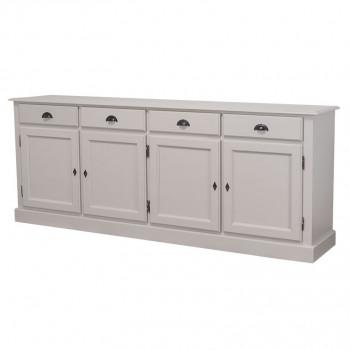 Enfilade 4 portes - 4 tiroirs en bois massif