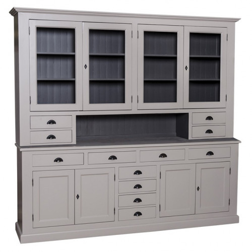 Grand buffet vaisselier en pin massif personnalisable - 245 cm -