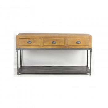 Console «Denton» de style industriel en bois