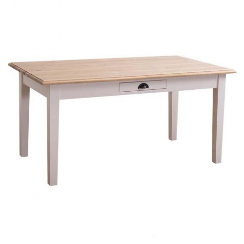 Table à manger ROMANE en bois massif - 160x90x78