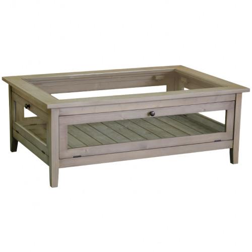 Table de salon en pin massif ROMANE - 120x80x45 cm