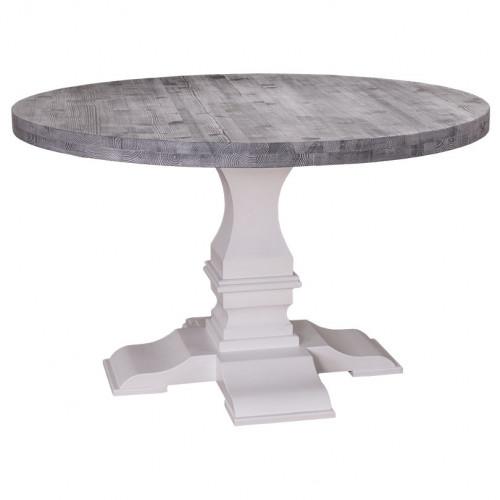 Table à manger ronde avec pied monastère