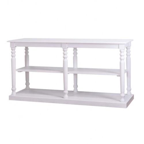 Table de mercerie avec plateau en zinc