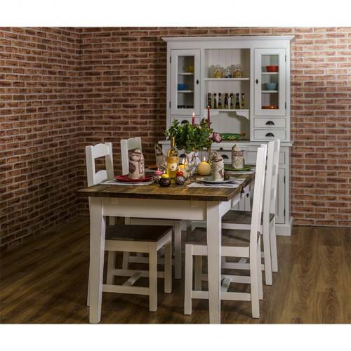 Table à manger en bois massif rectangulaire