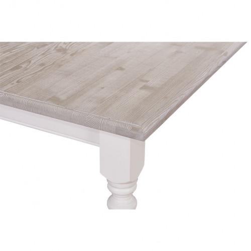 Table à manger rectangulaire aux pieds tournés