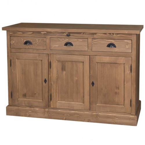 Buffet bas ROMANE en bois massif - 132x50x90 cm