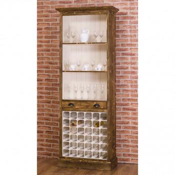 Fond de Bar avec range bouteilles - 78x41x210 cm