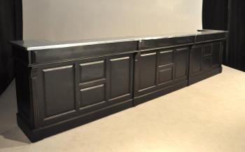 Comptoir Bar en pin massif plateau Zinc - 480 cm