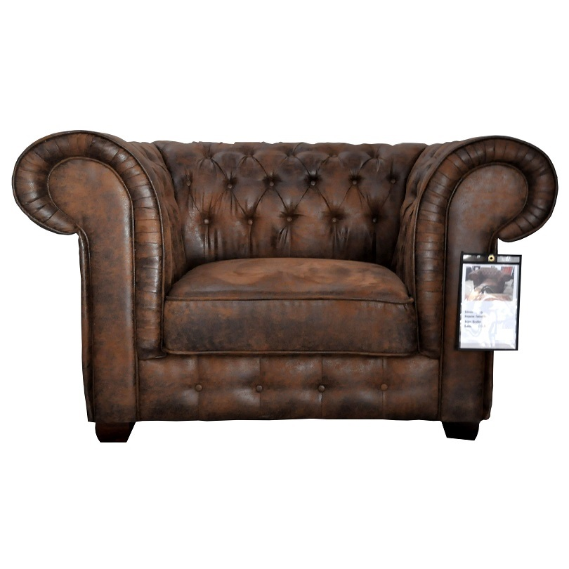 fauteuil de type chesterfield en tissu microfibre fa on. Black Bedroom Furniture Sets. Home Design Ideas