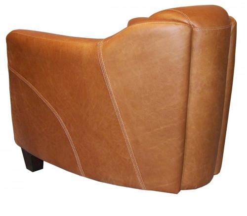 Fauteuil vintage OXFORD en cuir colombia