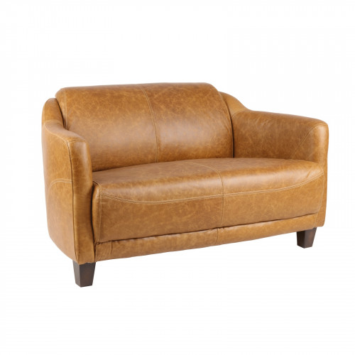Canapé vintage OXFORD en cuir colombia