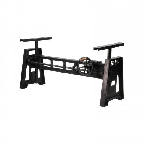 Pied de table industrielle à manivelle en fonte - 152x60