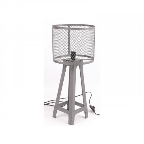 Lampe Vintage industrielle en métal gris - 70 cm