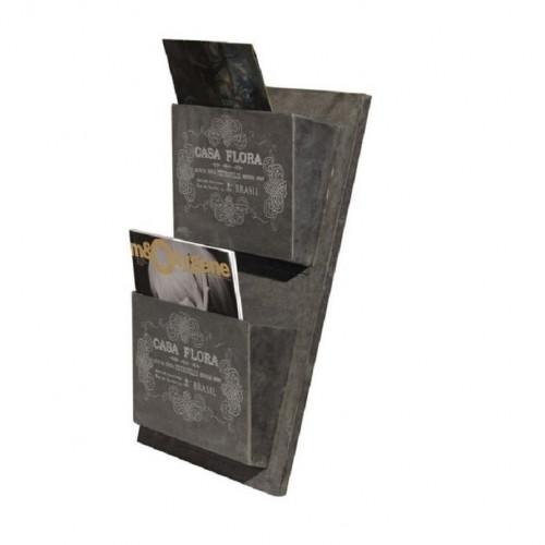 Range documents et courier de style vintage industriel en zinc
