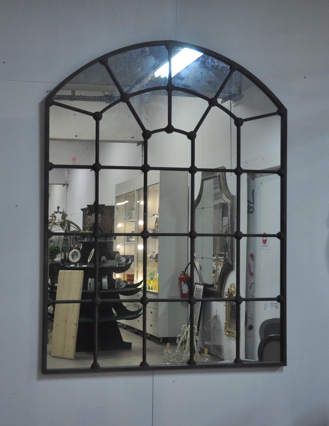 Grand Miroir D Entrée grand miroir atelier en métal de style industriel 140x180 cm