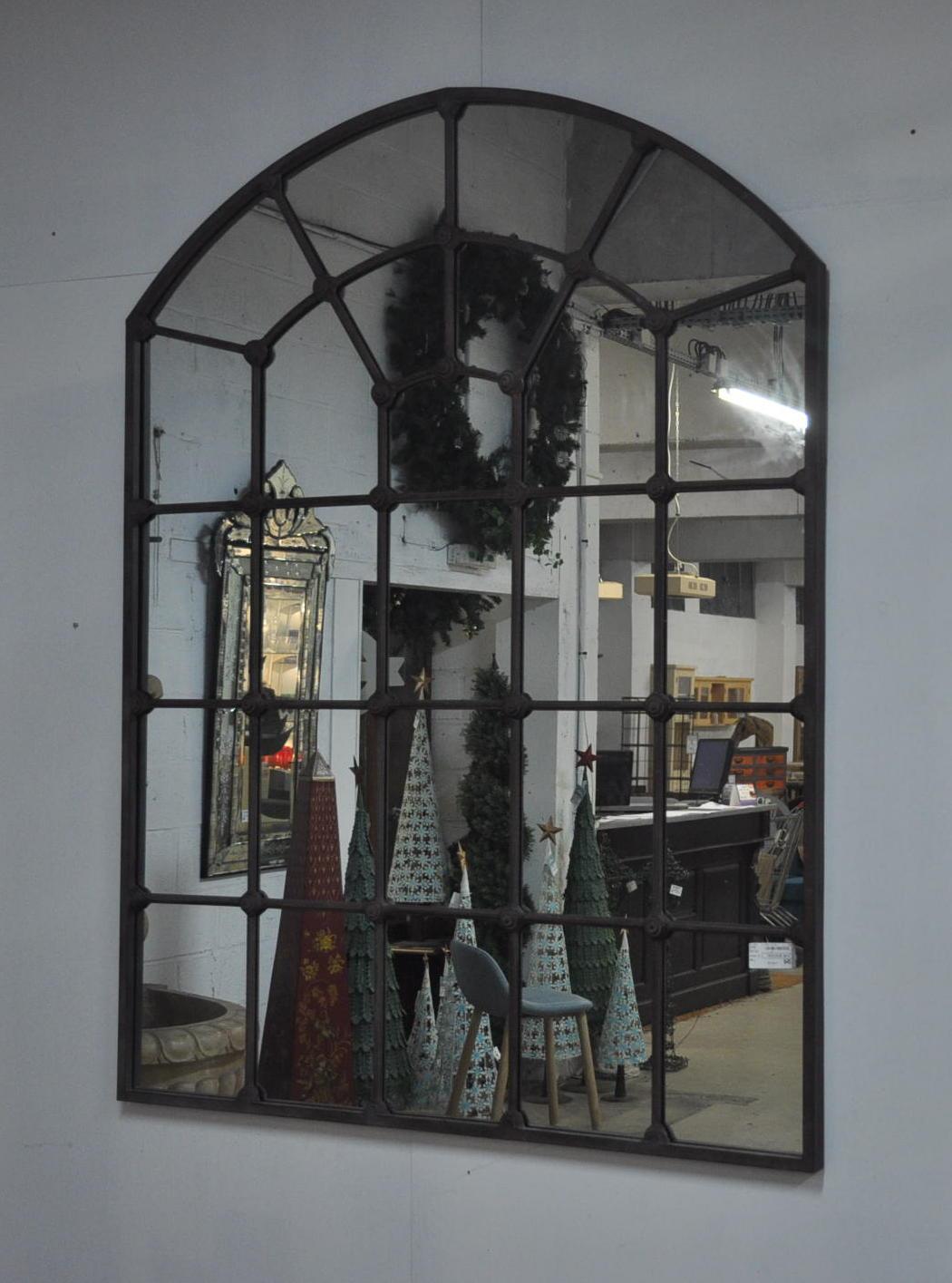 Grand Miroir Atelier En Metal De Style Industriel 140x180 Cm