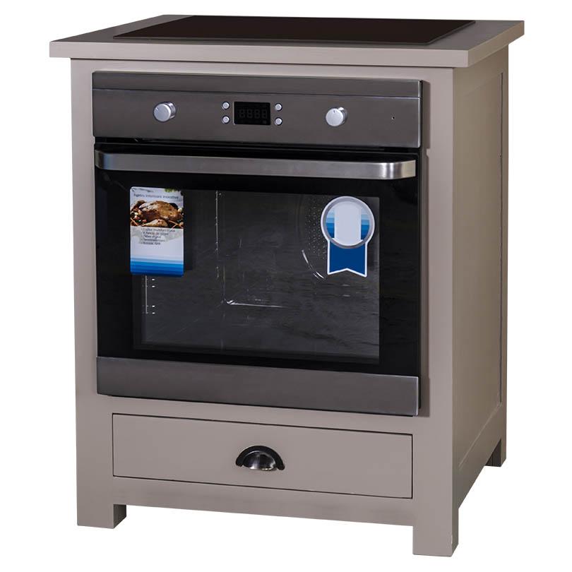 meuble cuisine pour four encastrable romane 76x65x90 cm