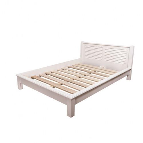 Lit 2 personnes avec Tête de lit ROMANE | 140x200cm