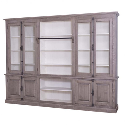 Grande bibliothèque Vitrine ROMANE - 300x51x228 cm