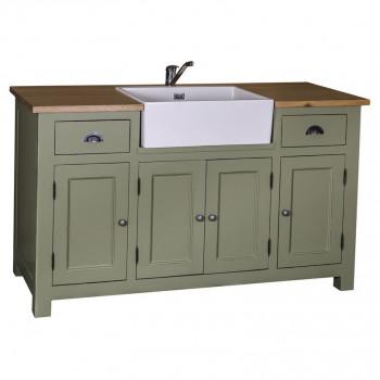 Meuble de cuisine avec évier intégré - 155x65x90 cm