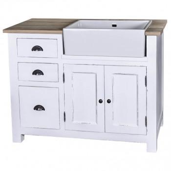 Meuble de cuisine 3 tiroirs et 1 placard - évier intégré