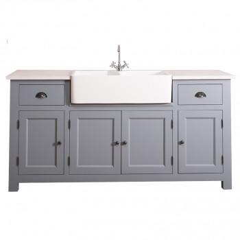 Meuble de cuisine avec évier intégré de 18 cm-4 portes et 2 tiroirs