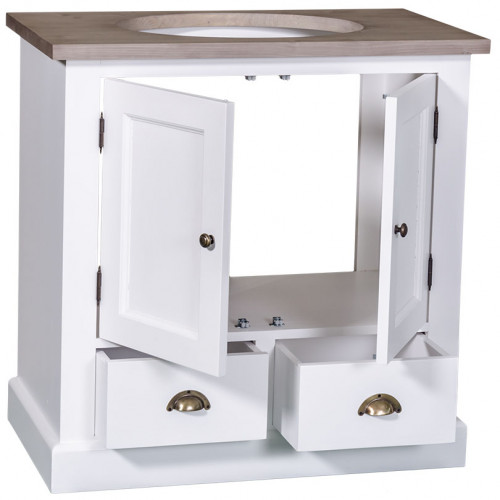 Meuble de salle de bain avec une vasque