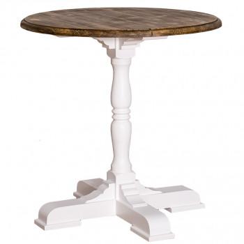 Table ronde en bois massif -ROMANE