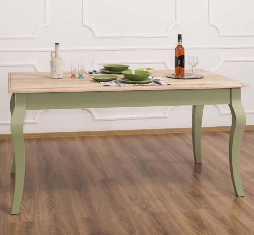 Table de repas ROMANE en bois massif - 160x90x78 cm
