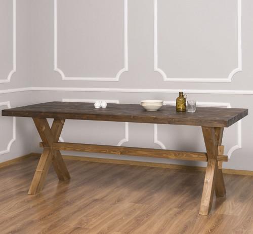 Table de repas en bois massif ROMANE - 210x90x78 cm