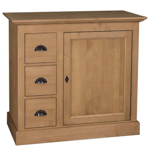 Commode 3 tiroirs et 1 porte - ROMANE