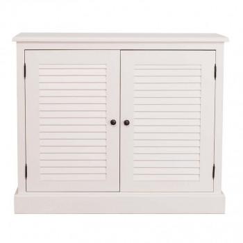 meuble de rangement 2 portes ROMANE - 108x37x90 cm