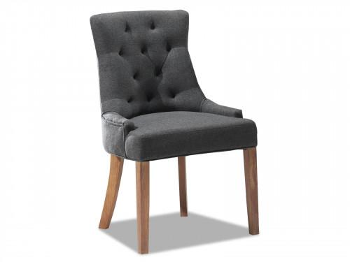 chaise contemporaine en tissu anthracite - 57x60x93 cm