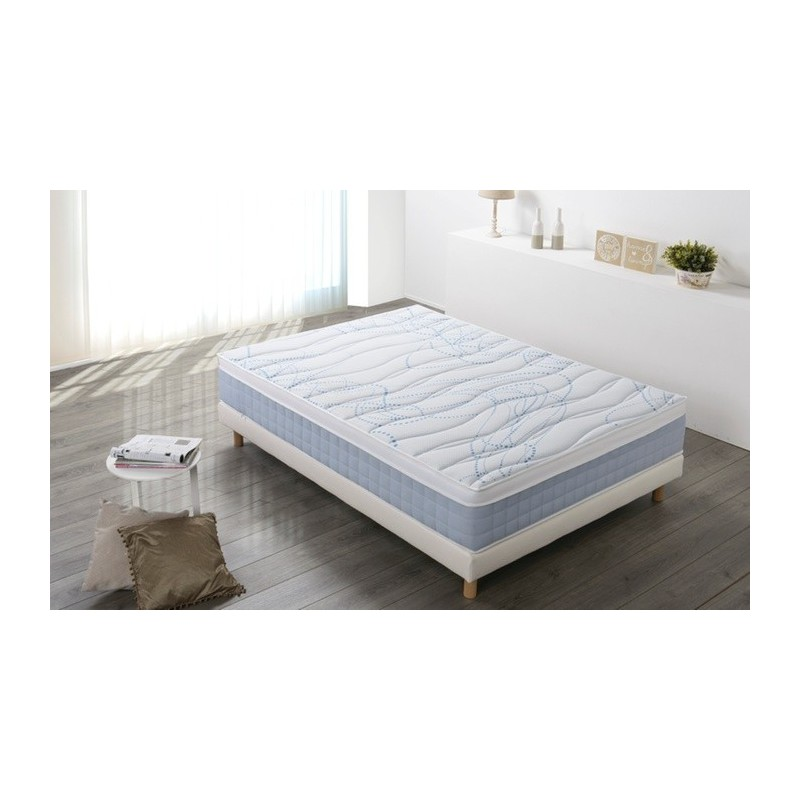 sommier matelas 2 personnes softy m moire de forme 160x200 cm le d p t des docks. Black Bedroom Furniture Sets. Home Design Ideas