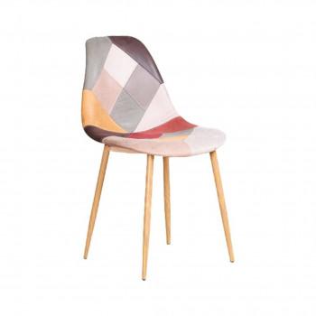 Chaise ARLEQUIN patchwork en simili