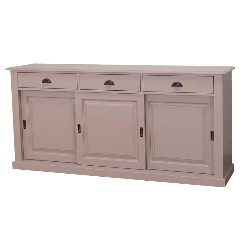 enfilade en bois massif avec portes coulissantes le. Black Bedroom Furniture Sets. Home Design Ideas