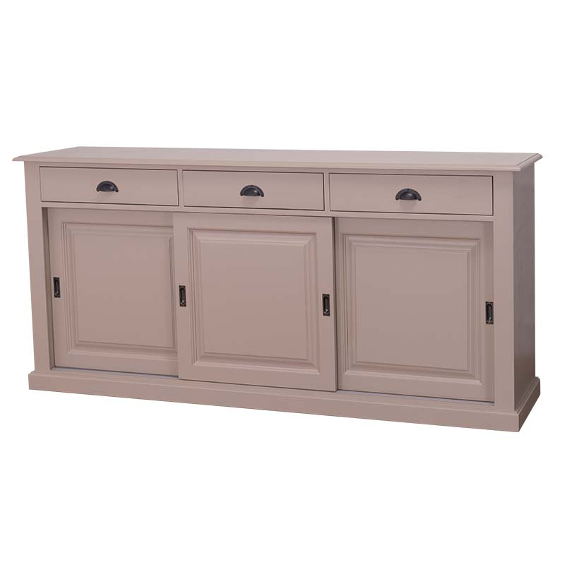 enfilade en bois massif avec portes coulissantes le d p t des docks. Black Bedroom Furniture Sets. Home Design Ideas