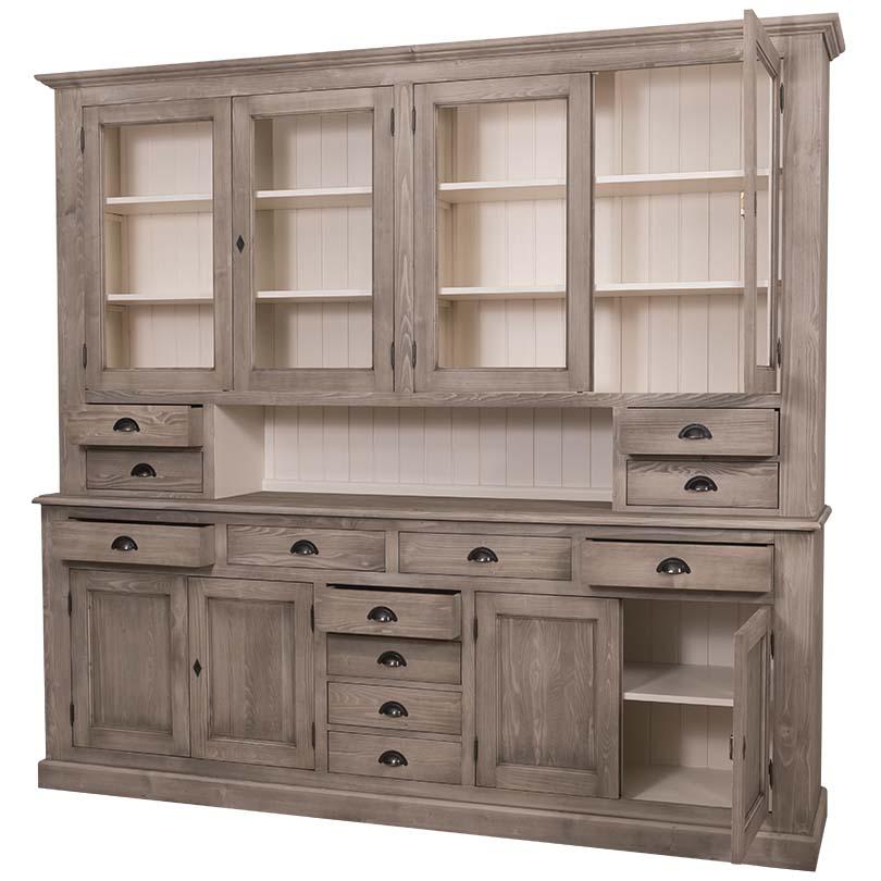 grand buffet vaisselier vitr le d p t des docks. Black Bedroom Furniture Sets. Home Design Ideas