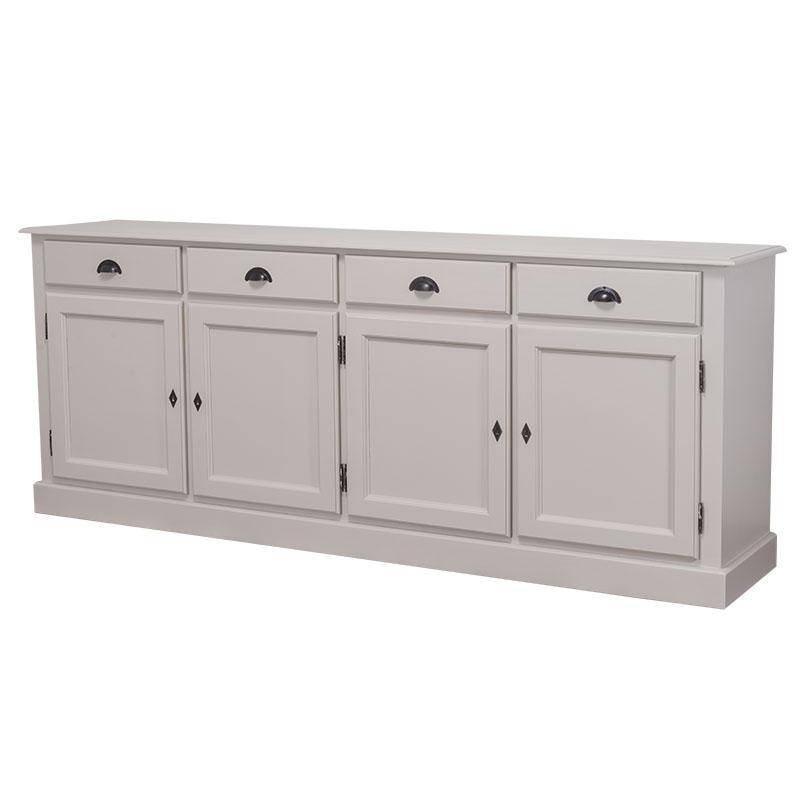 enfilade 4 portes 4 tiroirs en bois massif le d p t des docks. Black Bedroom Furniture Sets. Home Design Ideas