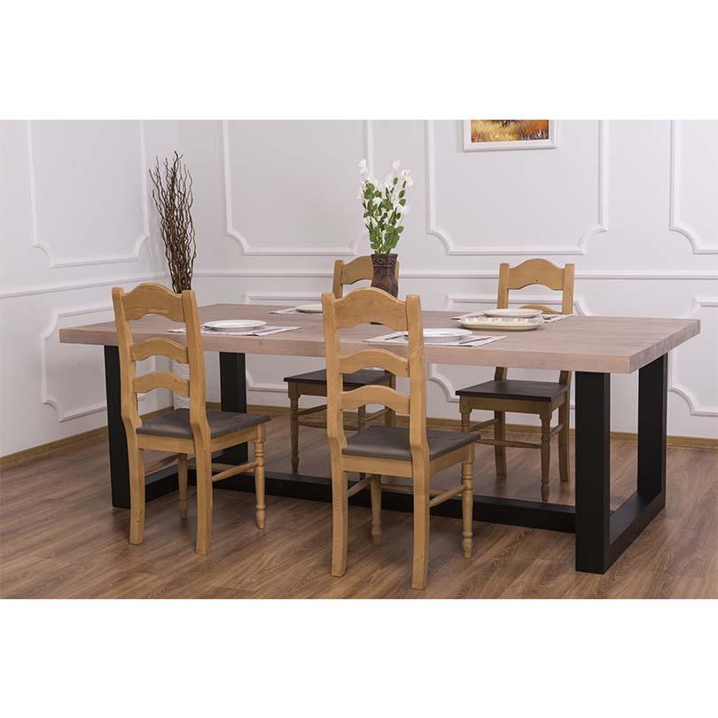 table manger en bois massif personnalisable le d p t des docks. Black Bedroom Furniture Sets. Home Design Ideas