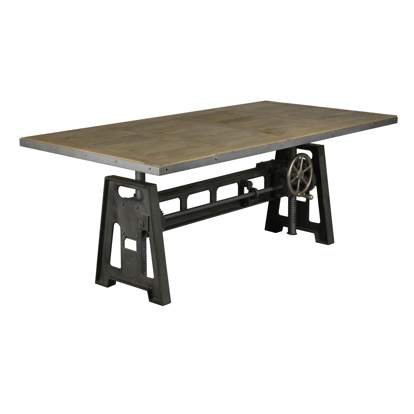 table industrielle manivelle 2m le d p t des docks. Black Bedroom Furniture Sets. Home Design Ideas