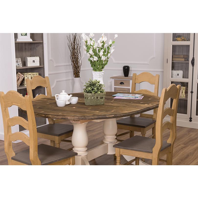 table ovale extensible avec 2 pieds en bois massif le d p t des docks. Black Bedroom Furniture Sets. Home Design Ideas