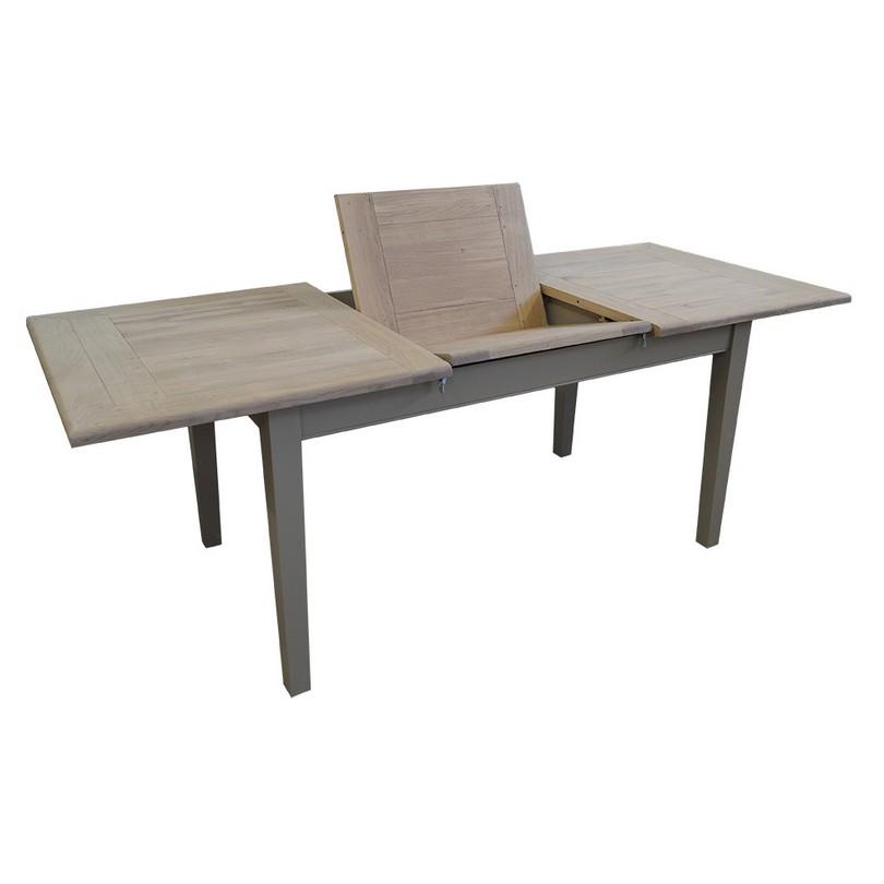 Table de repas extensible avec 1 allonge centrale en - Table de repas extensible ...