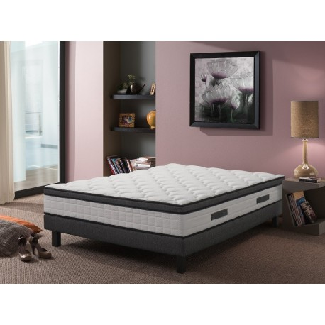 ensemble sommier matelas kiss 160x200 m moire de forme le d p t des docks. Black Bedroom Furniture Sets. Home Design Ideas