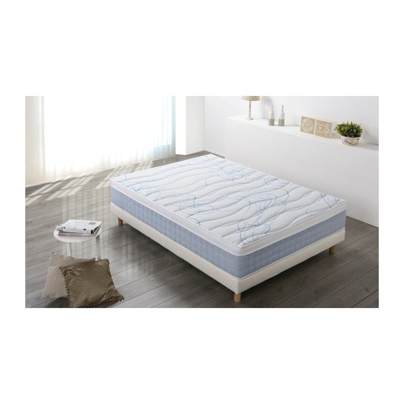 ensemble sommier matelas softy 160x200 m moire de forme le d p t des docks. Black Bedroom Furniture Sets. Home Design Ideas